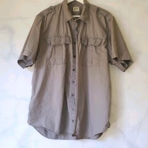 Men's Old Navy Military Style Button-Down Shirt